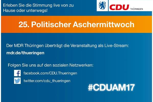 25. Politischer Aschermittwoch Der CDU Weimarer Land