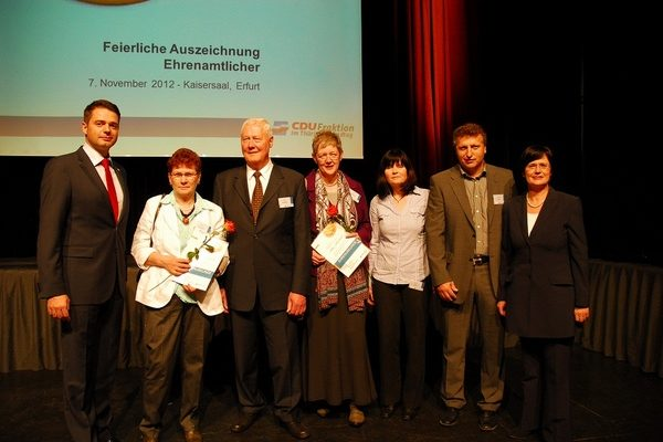 Ehrenamtsveranstaltung Der CDU Fraktion Im Thüringer Landtag 7.11.2012