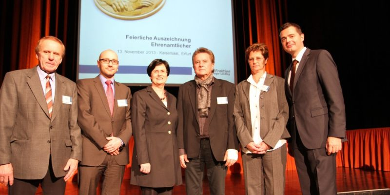 Ehrenamtsveranstaltung Der CDU Fraktion Im Thüringer Landtag 13.11.2013